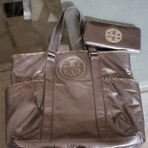 Tory Burch handbag and wallet set